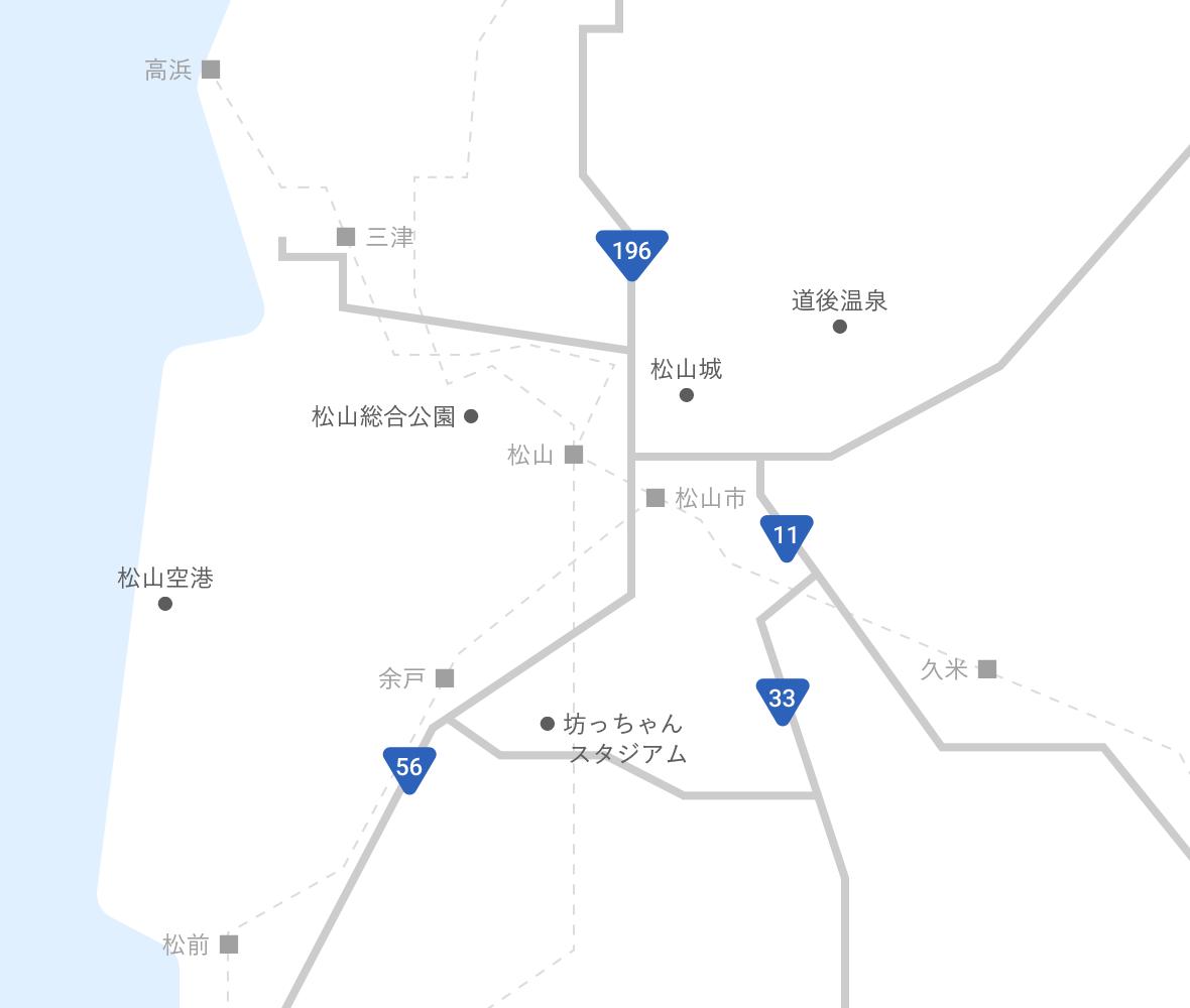 松山市内エリアマップ